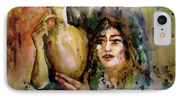 Girl With A Jug. IPhone Case by Faruk Koksal