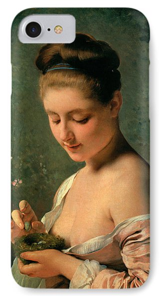 Girl With A Nest Phone Case by Charles Chaplin