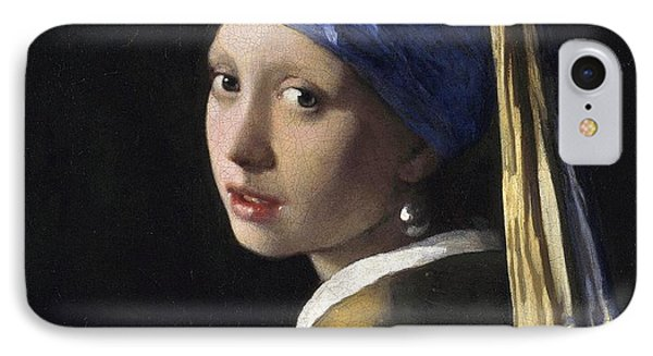 Girl With A Pearl Earring Phone Case by Johannes Vermeer