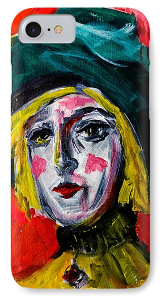 Girl With A Green Hat IPhone Case by Maxim Komissarchik