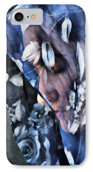 Girl With A Rose Veil 1 Illustration Phone Case by Angelina Vick
