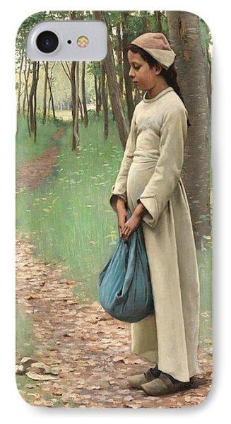 Girl With Bindle IPhone Case by Louis Welden Hawkins