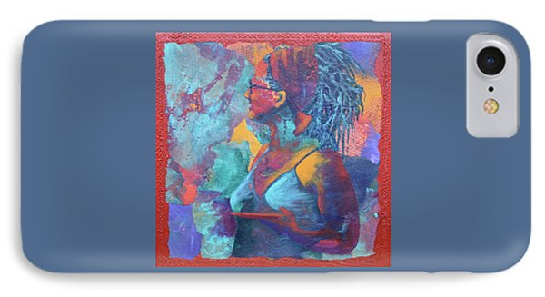 IPhone Case featuring the painting Girl With Dreads by Nancy Jolley