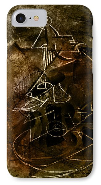 Girl With Guitar Study IPhone Case