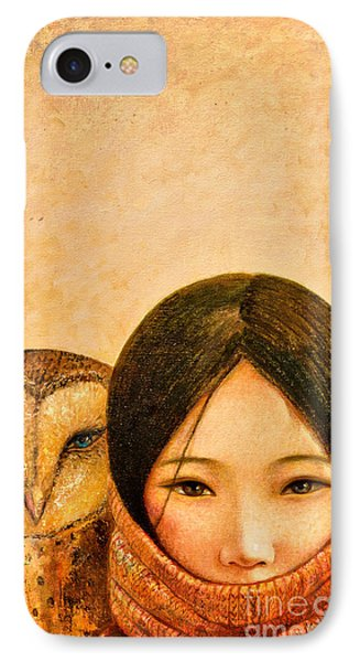 Girl With Owl IPhone 7 Case by Shijun Munns