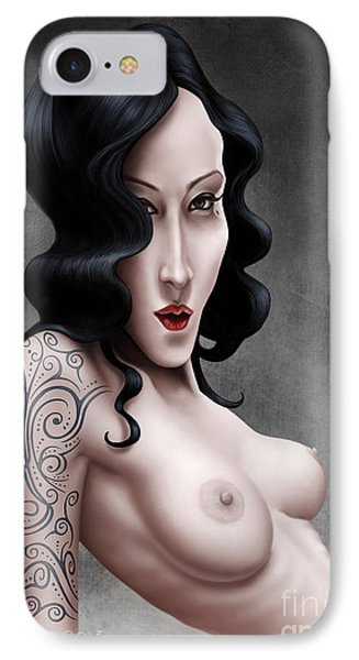 Girl With The Tribal Tattoo IPhone Case