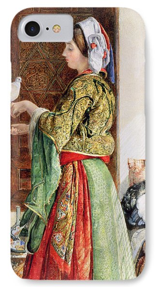 Girl With Two Caged Doves, Cairo, 1864 IPhone 7 Case by John Frederick Lewis