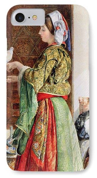 Girl With Two Caged Doves, Cairo, 1864 IPhone Case by John Frederick Lewis