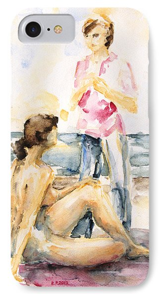 Girlfriends At The Beach Phone Case by Barbara Pommerenke