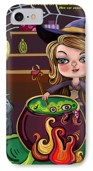 Girls And Her Cat IPhone Case by Bogdan Floridana Oana
