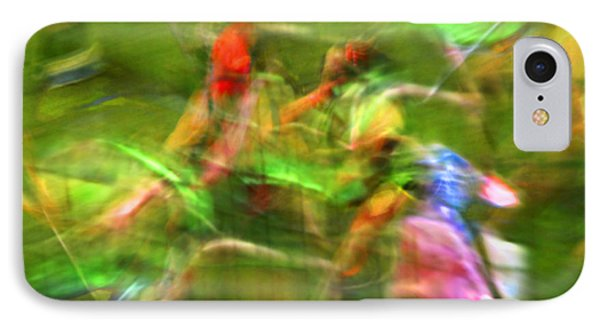 Girls Lacrosse Abstract Phone Case by Susan Leggett