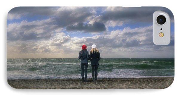 Girls On The Beach IPhone Case by Joana Kruse