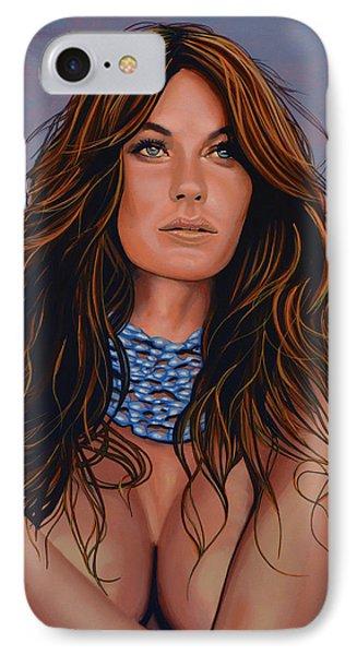 Gisele Bundchen Painting IPhone Case by Paul Meijering