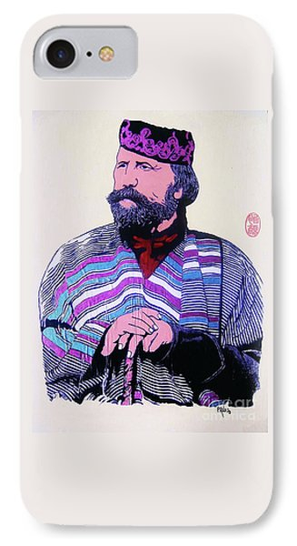 IPhone Case featuring the painting Giuseppe Garibaldi by Roberto Prusso