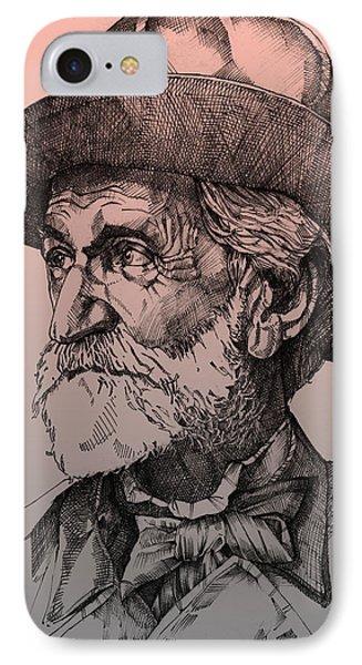 Giuseppe Verdi Phone Case by Derrick Higgins