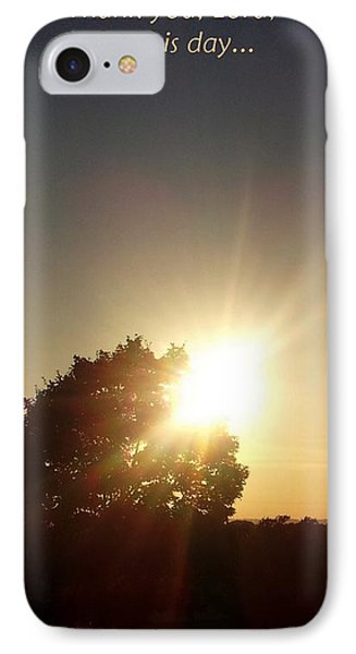 Give Thanks IPhone Case by Jyvonne Inman