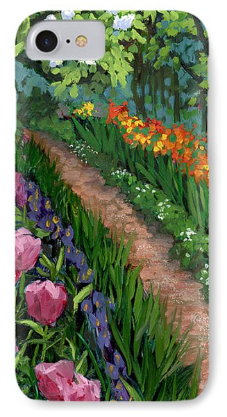 Giverny Garden IPhone Case by Alice Leggett