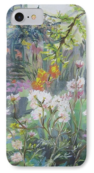IPhone Case featuring the painting Giverny In Autumn by Julie Todd-Cundiff