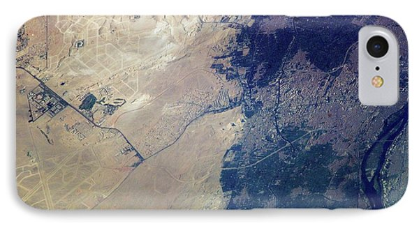 Giza Plateau And Cairo IPhone Case by Nasa