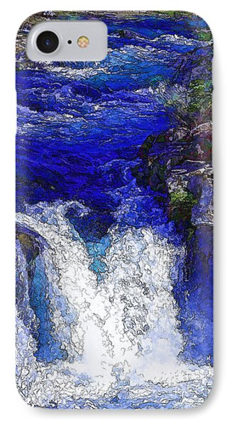 Glacial Flow-2 IPhone Case by Nancy Marie Ricketts