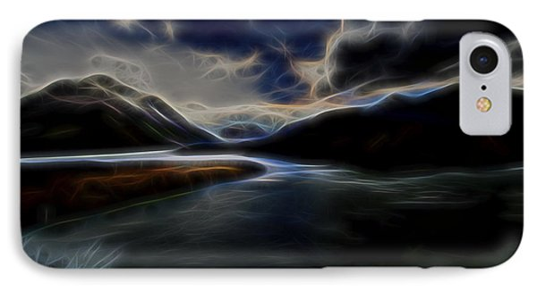 IPhone Case featuring the digital art Glacial Light 1 by William Horden