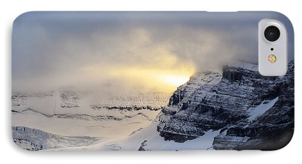 Glacier Above Lake Louise Alberta Canada IPhone Case by Mary Lee Dereske