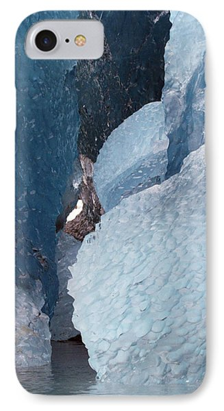 IPhone Case featuring the photograph Glacier Ice Blues by Myrna Bradshaw