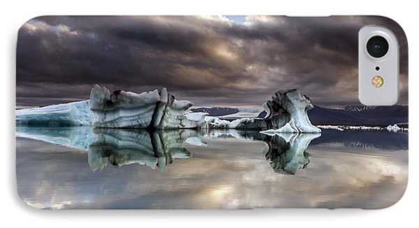Glacier In Water IPhone Case