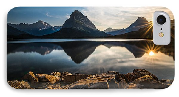 Glacier National Park IPhone Case by Larry Marshall