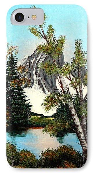 Glacier Peak After Bob Ross Phone Case by Barbara Griffin