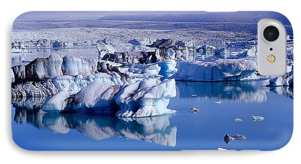 Glaciers Floating On Water, Jokulsa IPhone Case by Panoramic Images