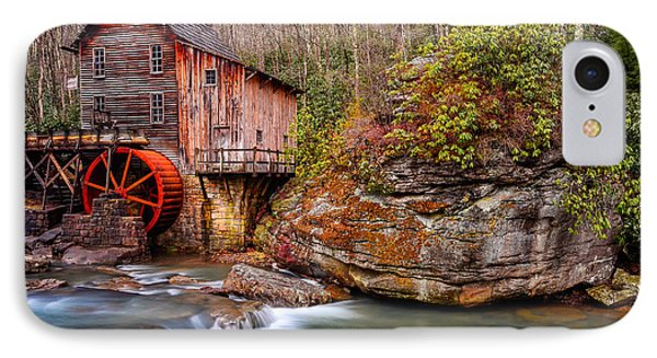 Glade Creek Grist Mill IPhone Case by Anthony Heflin