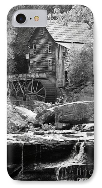 Glade's Mill Black And White IPhone Case by Dwight Cook