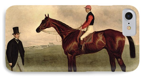 Gladiateur With Harry Grimshaw Up And His Owner Count Frederic De Lagrange IPhone Case by Harry Hall