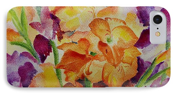 Gladioli IPhone Case by Geeta Biswas