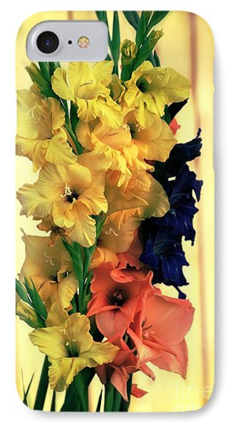 IPhone Case featuring the photograph Gladiolus  2013 by Marjorie Imbeau