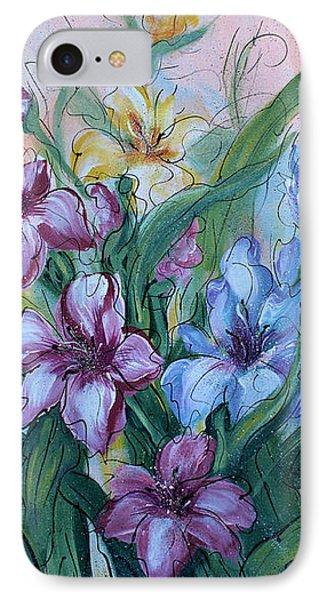 Gladiolus Phone Case by Natalie Holland