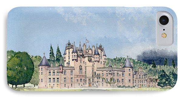 Glamis Castle Tayside  IPhone Case by David Herbert