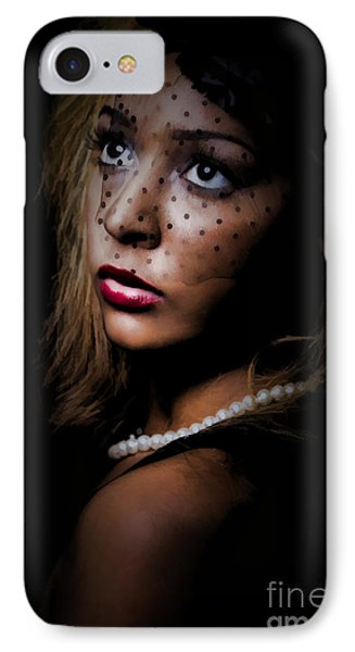 IPhone Case featuring the painting Glamour by Linda Blair