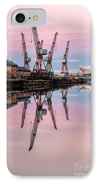 Glasgow Cranes With Belt Of Venus Phone Case by John Farnan