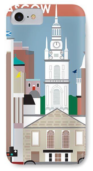 Glasgow Phone Case by Karen Young