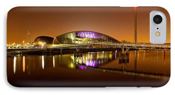 Glasgow Science Centre On A Tofee Coloured Sky IPhone Case