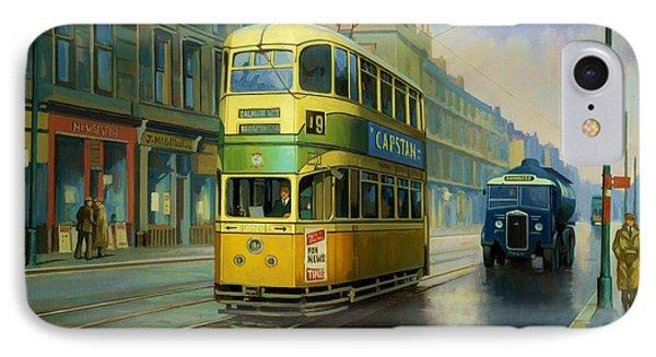 Glasgow Tram. Phone Case by Mike  Jeffries