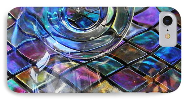 Glass Abstract 262 Phone Case by Sarah Loft