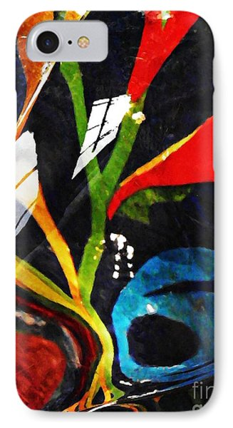 Glass Abstract 297 Phone Case by Sarah Loft