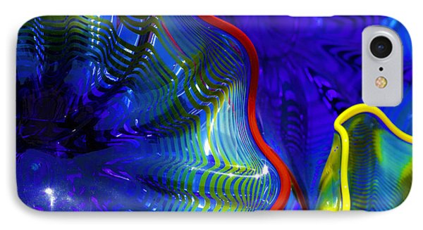 Glass Abstract One IPhone Case by Raymond Kunst