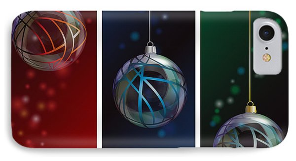 Glass Bauble Banners Phone Case by Jane Rix