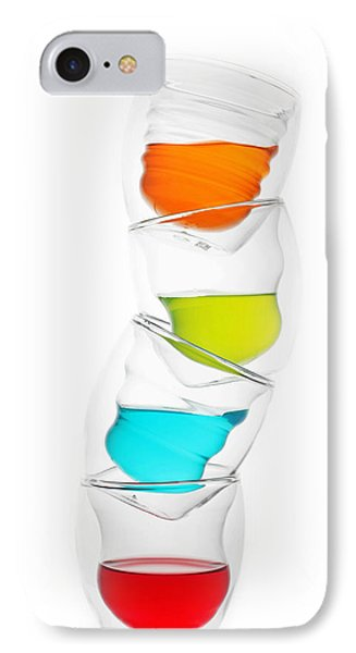 Glass Cups And Colorful Drinking II Liquid Art Phone Case by Paul Ge