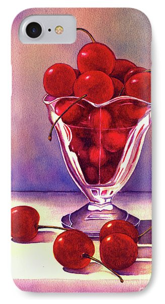 Glass Full Of Cherries IPhone Case by Nan Wright