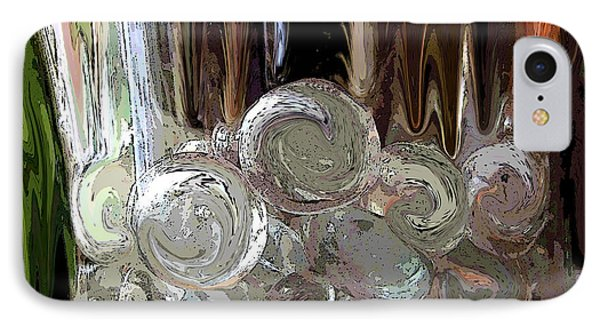 IPhone Case featuring the digital art Glass In Glass by Mary Bedy